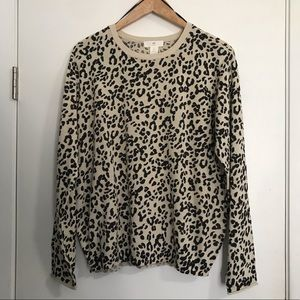 H&M Animal Print Sweater Size L